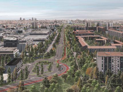 Viabilità viale de Gasperi, Milano